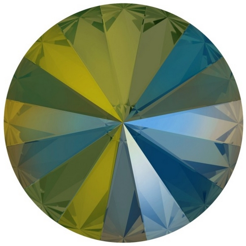 Crystals from Swarovski ® RIVOLI 12 mm - Iridescent GREEN