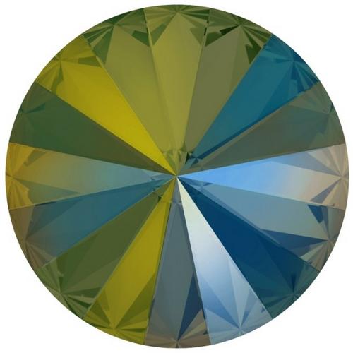Crystals from Swarovski® RIVOLI 12 mm - IRIDESCENT GREEN