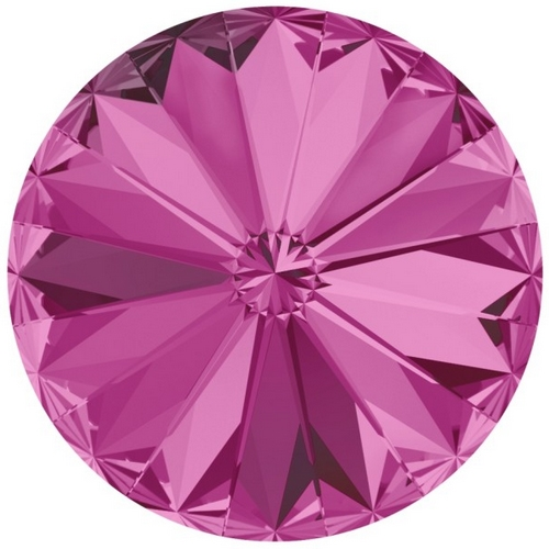 Crystals from Swarovski ® RIVOLI 12 mm - FUCHSIA