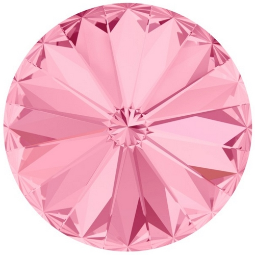 Crystals from Swarovski ® RIVOLI 12 mm - LIGHT ROSE