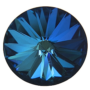 Crystals from Swarovski ® RIVOLI 12 mm - BERMUDA BLUE