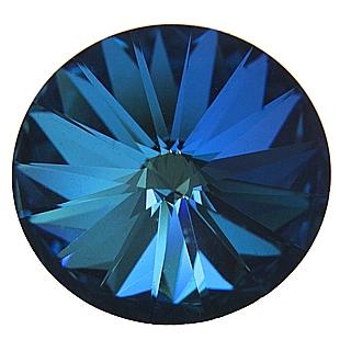 Crystals from Swarovski ® RIVOLI 12 mm - BERMUDA BLUE