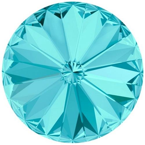 Crystals from Swarovski® RIVOLI 12 mm - LIGHT TURQUOISE