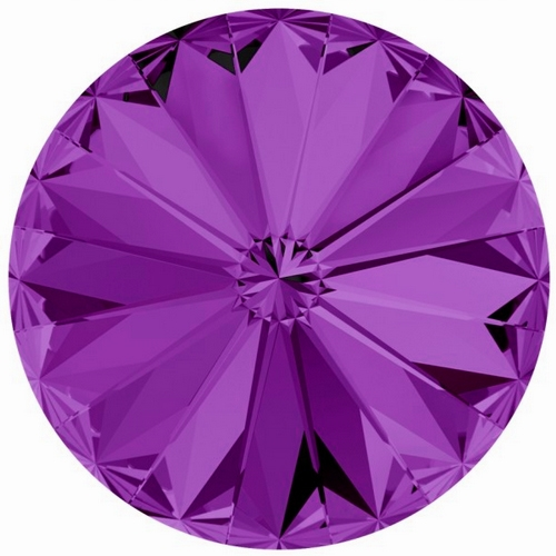 Crystals from Swarovski ® RIVOLI 12 mm - AMETHYST