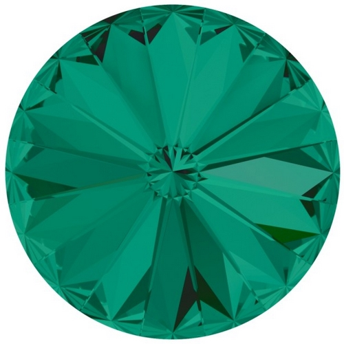 Crystals from Swarovski ® RIVOLI 12 mm - EMERALD