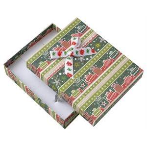 Veľká vianočná darčeková krabička na súpravu šperkov