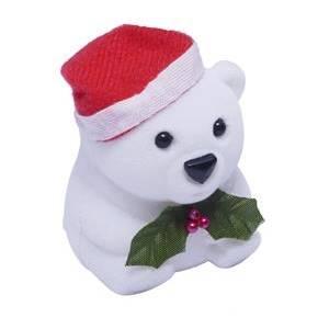 Vánoční dárková krabička na prsten - medvídek