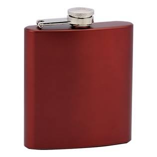 Červená ocelová kapesní lahev - placatka 175 ml