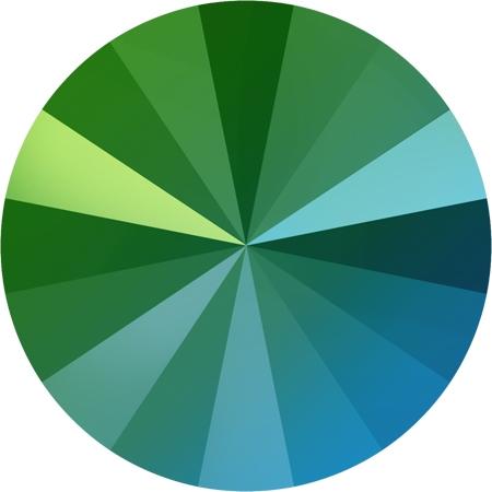 Crystals from Swarovski® RIVOLI 12 mm - SCARABAEUS GREEN