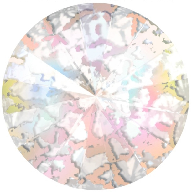 Crystals from Swarovski ® RIVOLI 12 mm - CRYSTAL WHITE-PATINA