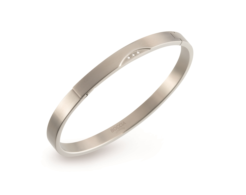 Titánový náramok BOCCIA® s diamantmi 03006-02