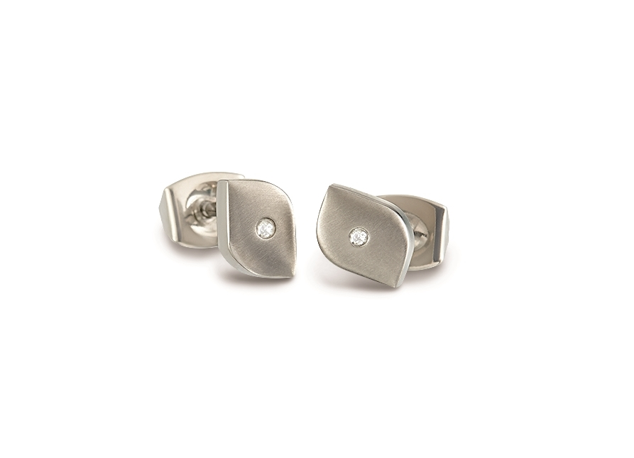 Titánové náušnice s diamantom BOCCIA® 05008-02