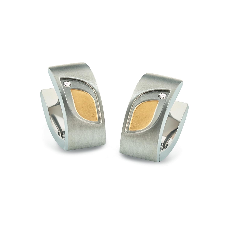 Titanové náušnice s diamanty 5009-03