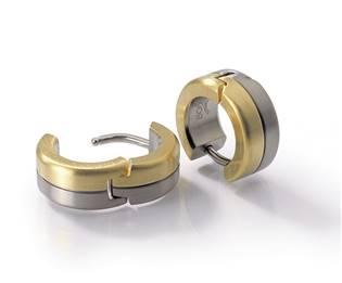 Titanové náušnice kroužky BOCCIA® 0505-02