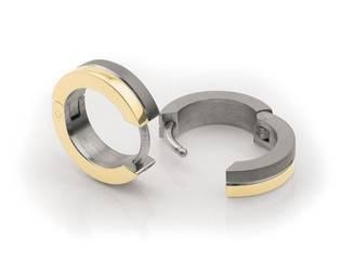 Zlacené titanové náušnice kroužky 0510-03