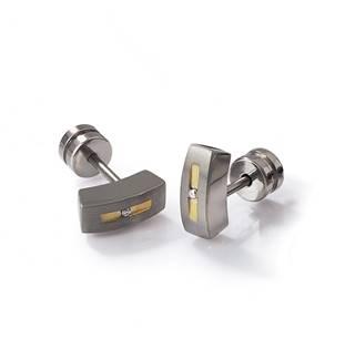 Titanové náušnice s diamanty 0515-01