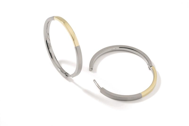 Titanové náušnice kruhy zlacené 0516-02 B0516-02