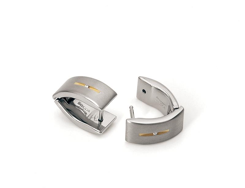 Titanové náušnice s diamanty 0521-03