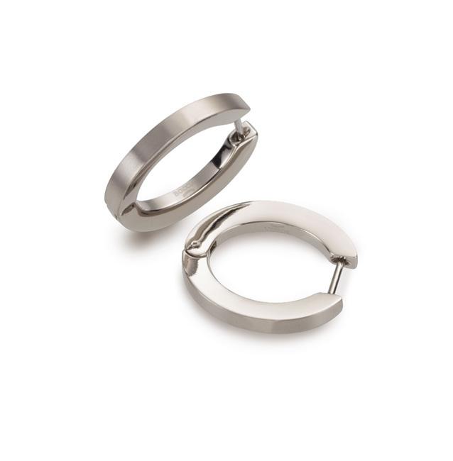 Titanové náušnice kruhy BOCCIA® 0558-01 B0558-01
