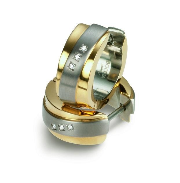 Titanové náušnice kroužky s diamanty 0560-04