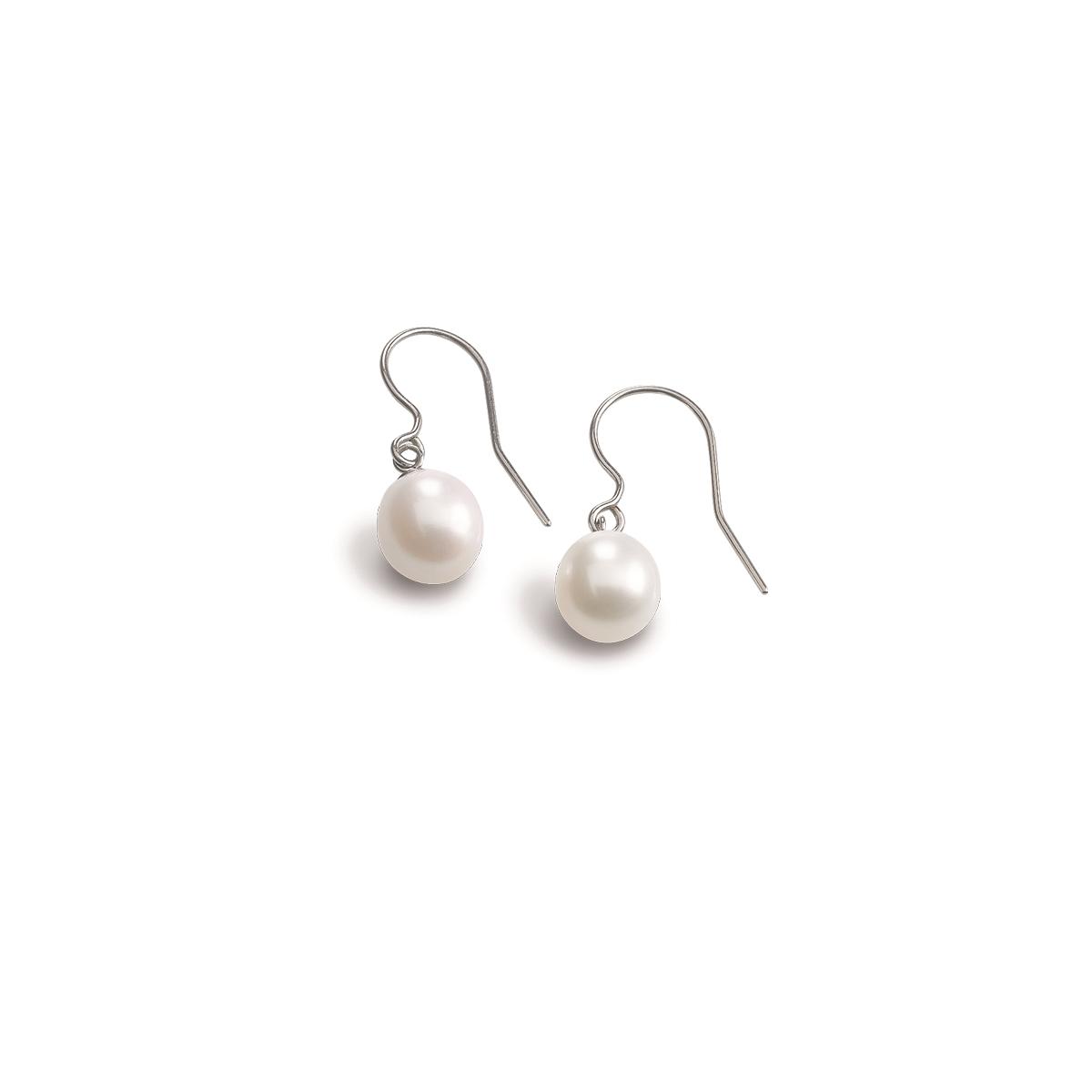Titánové náušnice s perličkami BOCCIA® 0586-01