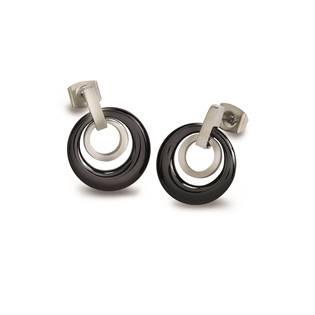 BOCCIA® Titanové náušnice s černou keramikou 0588-02 - 0588-02