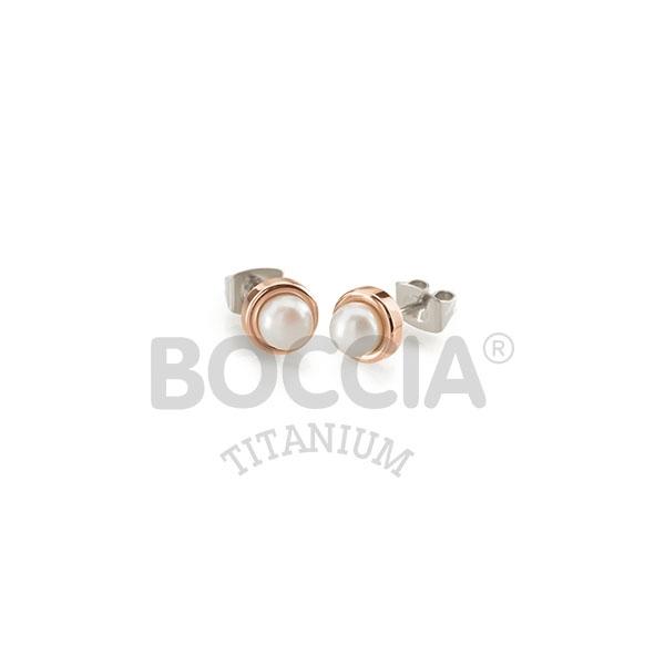 Titánové náušnice s perličkou BOCCIA® 0594-03