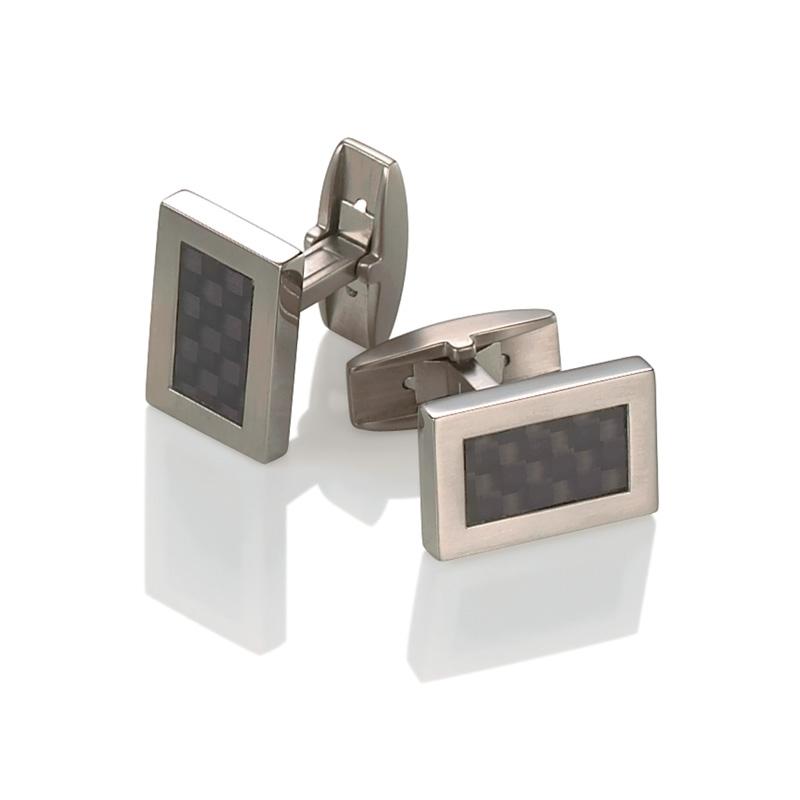 Titánové manžetové gombíky s karbónom BOCCIA® 0603-03