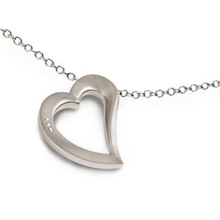 Titanový přívěšek srdce s diamanty 0750-02