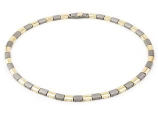 Titanový náhrdelník zlacený 0812-02