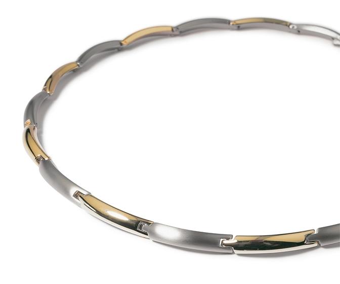 Titanový náhrdelník zlacený 0817-03 B0817-03