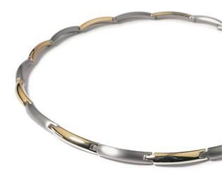 Titanový náhrdelník zlacený 0817-03