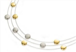 Titanový náhrdelník zlacený 0852-02