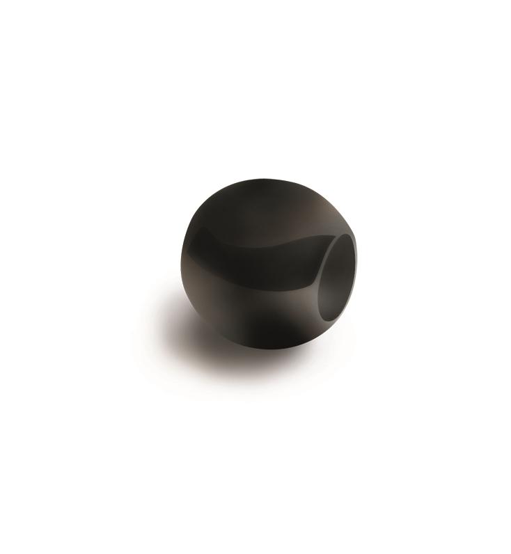 Čierny titánový prívesok - korálku BOCCIA® 0901-04