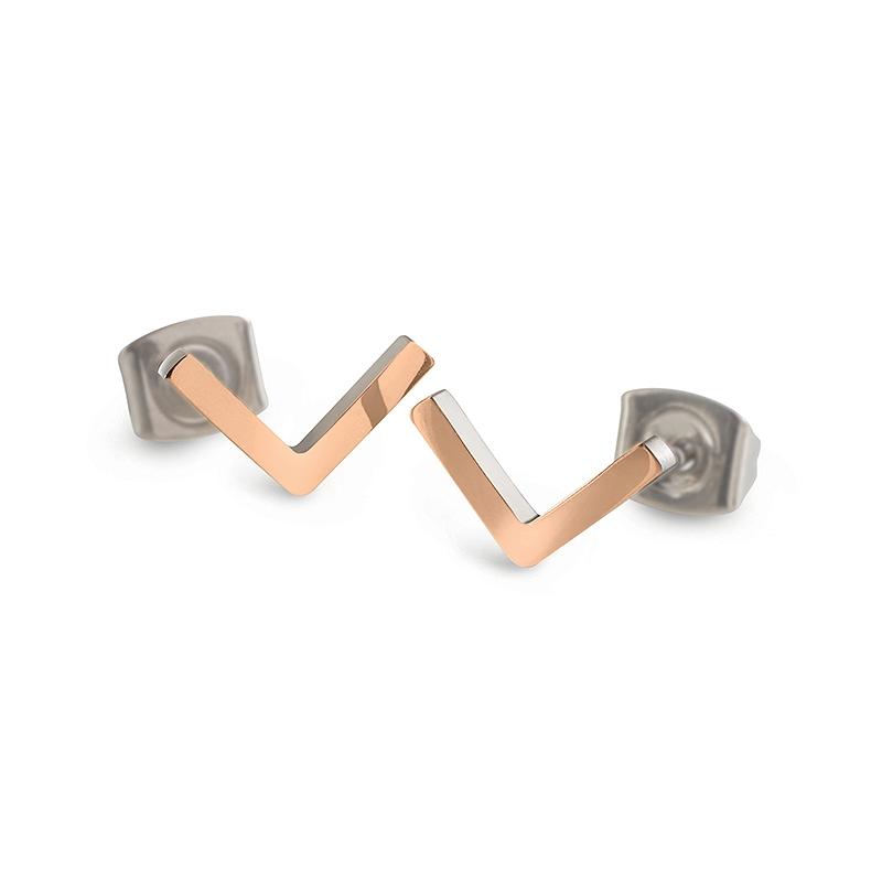 Titanové náušnice šipky zlacené 05024-03 B05024-03
