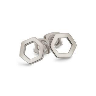 Titanové náušnice osmiúhelníky 05027-01