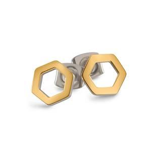 Titanové náušnice osmiúhelníky 05027-02