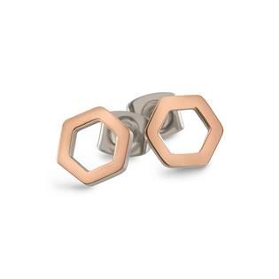 Titanové náušnice osmiúhelníky 05027-03