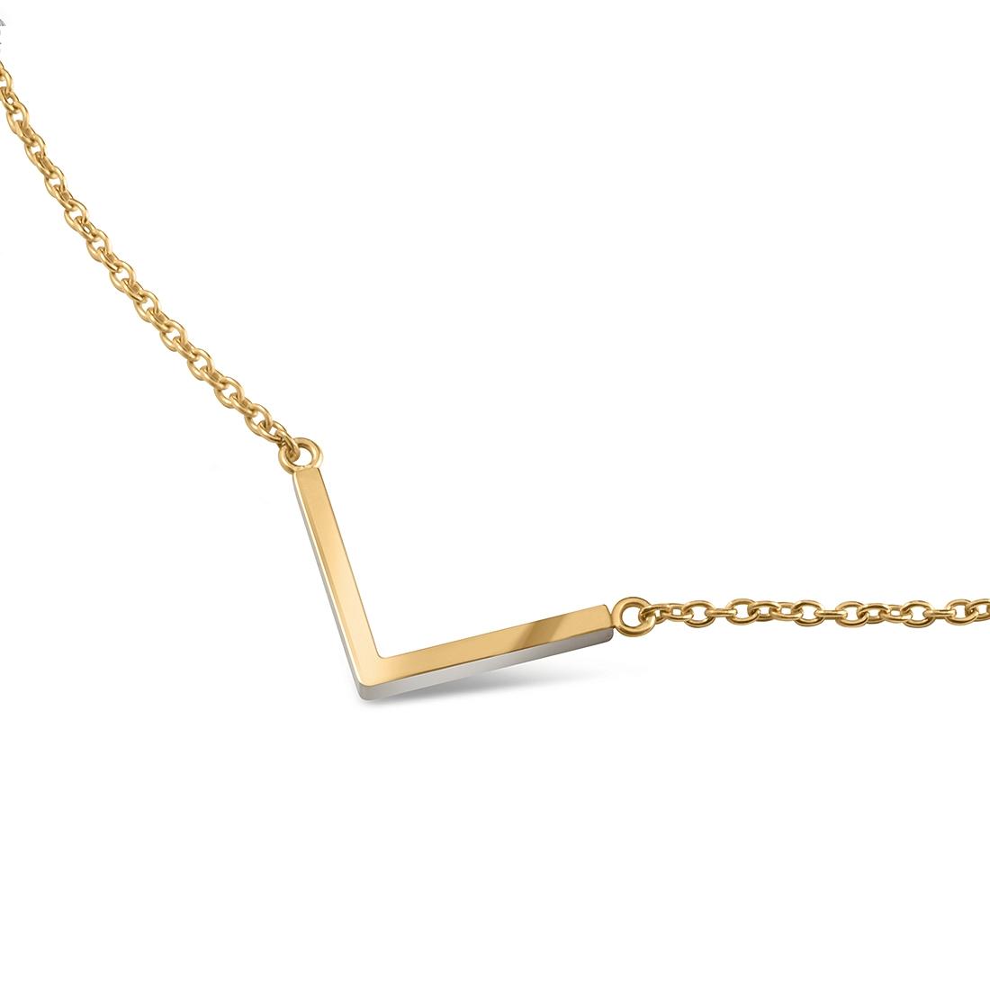 """Zlacený titanový náhrdelník """"šipka"""" 08015-02 B08015-02"""