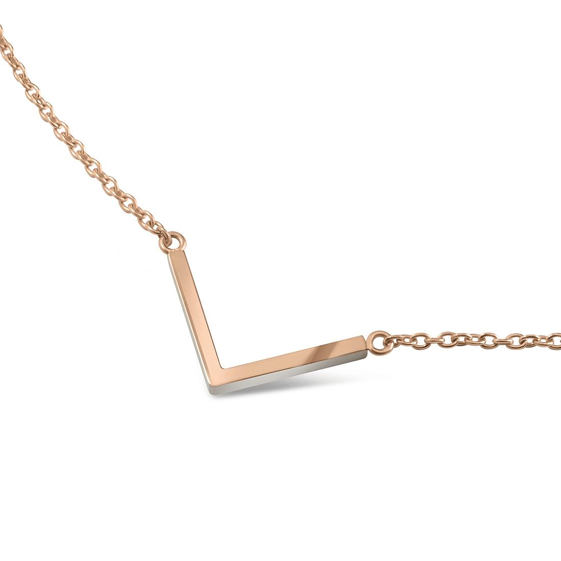 """Zlacený titanový náhrdelník """"šipka"""" 08015-03 B08015-03"""