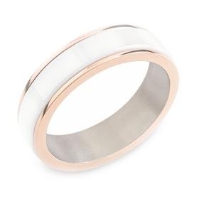 Pánsky titánový snubný prsteň BOCCIA® s keramikou 0132-02