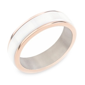 Dámsky titánový snubný prsteň BOCCIA® s keramikou 0132-02