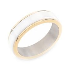 Pánsky titánový snubný prsteň BOCCIA® s keramikou 0132-03
