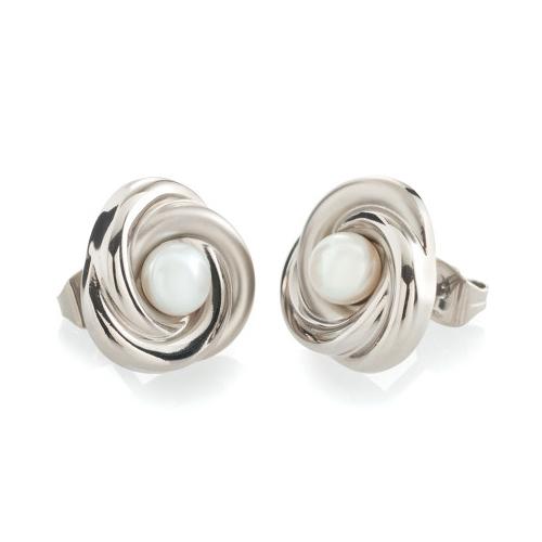 Titánové náušnice s perličkou BOCCIA® 0590-01