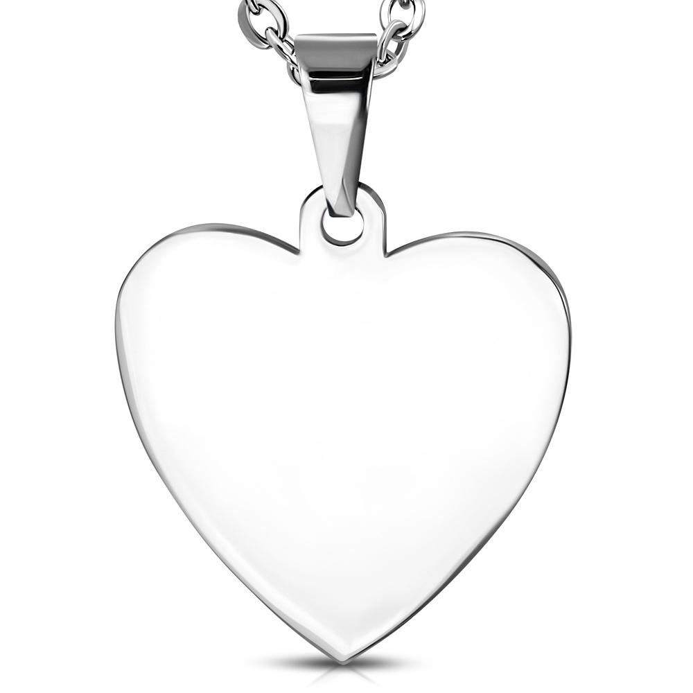 Oceľový prívesok srdce