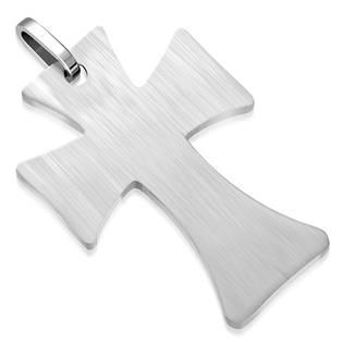 Ocelový přívěšek - kříž matný