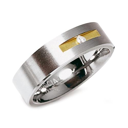 Titánový snubný prsteň s diamantom BOCCIA® 0101-08