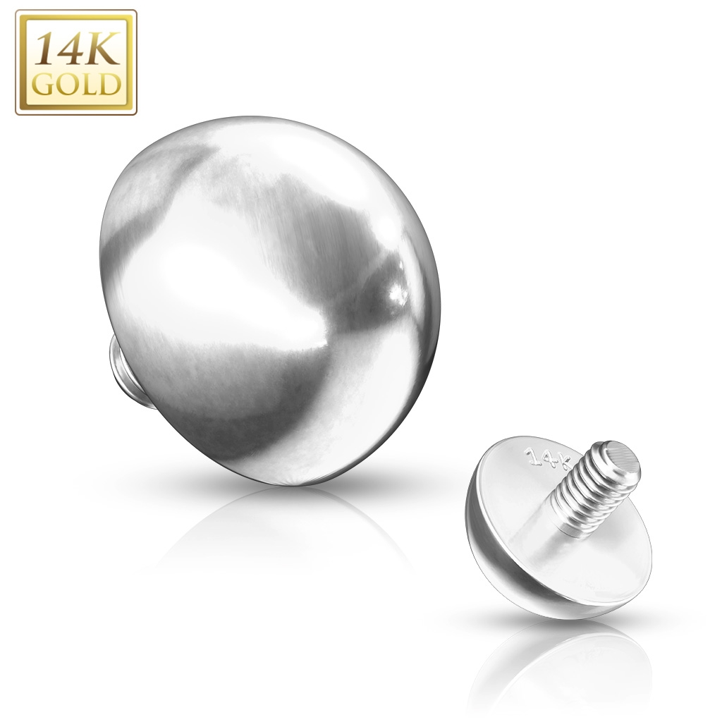 Zlatý piercing - dermal polgulička 4 mm, Au 585/1000