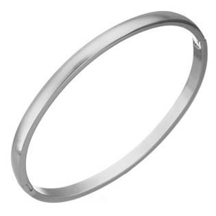 Ocelový náramek kruh otevírací, 55 x 48 mm, šíře 4 mm