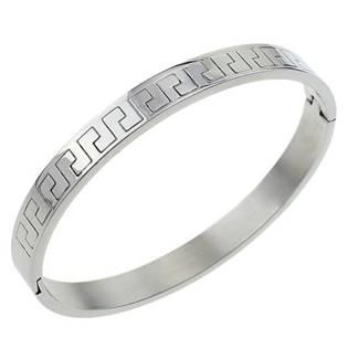 Ocelový náramek kruh se řeckým vzorem